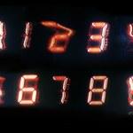 ファジィ デジタル数字 — ストック写真