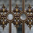 Ornate fence - Stock Photo