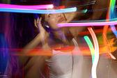 Pretty young girl dancing — Stock Photo