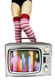 Tv legs — Stock Photo