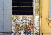Graffiti sprayed on a wall — Stock Photo