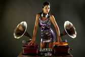 Gramophone dj — Stock Photo