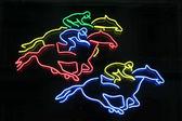Horses neon — Stock Photo