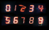 Fuzzy digital numbers — Stock Photo