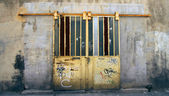Old locked door — Stock Photo