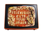 Orange tv — Stock Photo