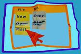 Correo electrónico de papel — Foto de Stock