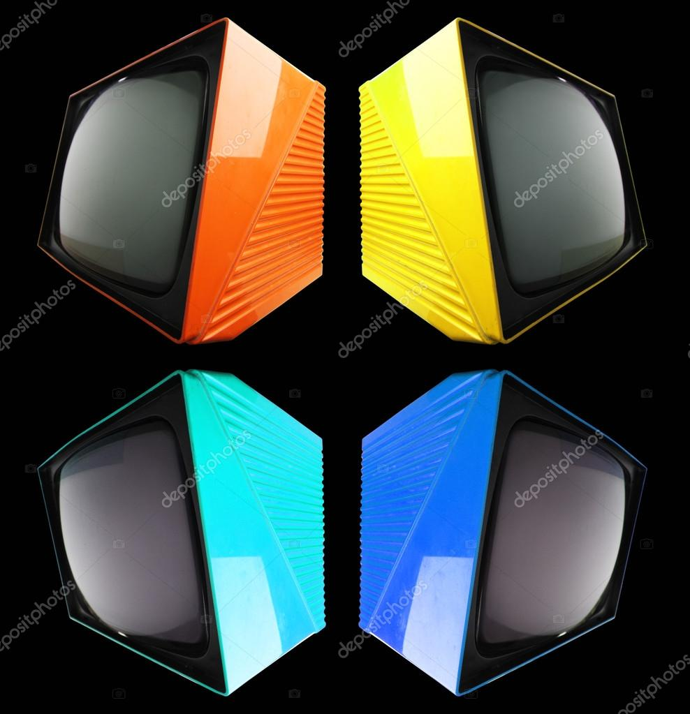 Four retro televsions in pattern  — Stock Photo #12803471