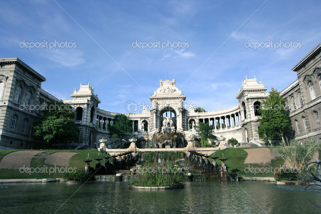 Palais longchamp building in marseille — Stock Photo #12803557