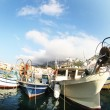 Stock Photo: Fisheye boats