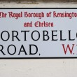 Стоковое фото: Street sign for portobello road