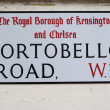 Foto de Stock  : Street sign for portobello road