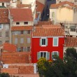 Red house marseille — Stock Photo