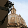 Domed church in rome — Stock Photo