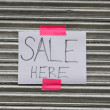 Stock Photo: Sale here