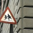 School children warning — Stock fotografie