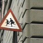školní děti varování — Stock fotografie