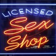 Sex shop sign - Stock Photo