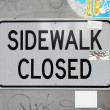 Sidewalk closed — Stockfoto