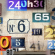 Different house numbers - Stock Photo