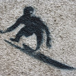 Surfer stencil — Stockfoto
