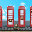 Red English call boxes — Stock Photo