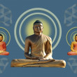 Bhudda statues - Stock Photo