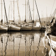 Stock Photo: Boat reflections