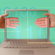 Stock Photo: Laptop screen