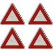 Stock Photo: Blank triangular sign
