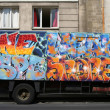 Graffiti on truck - Stock Photo