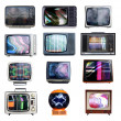 Foto Stock: Lots of tvs