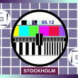 Tv test card - Stock Photo