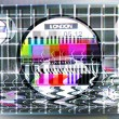 Fuzzy tv test card - Stock Photo