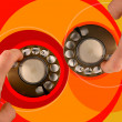Retro style telephone — Stock Photo