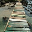 Boardwalk in the seashore - Stock Photo