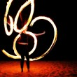 Stock Photo: Fire poi