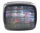 Fuzzy tv — Stock Photo