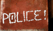 Police graffiti word — Stock Photo