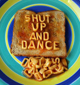 Shut up and dance — Stock Photo
