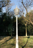 White lampost — Stock Photo