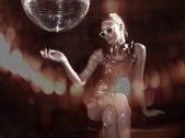 Discoball dancer — Stock Photo