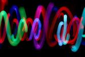 Juggling lights — Stock Photo
