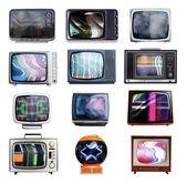 Montón de televisores — Foto de Stock