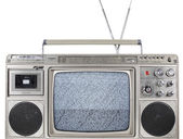 Retro ghettoblaster television — Stock Photo