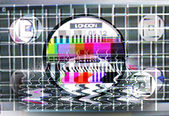 Fuzzy tv test card — Stock fotografie