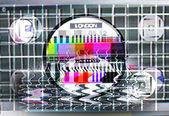 Fuzzy tv testovací karta — Stock fotografie