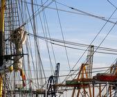 Cuerdas de barco de vela — Foto de Stock