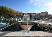 Szeroki kąt łódź — Zdjęcie stockowe