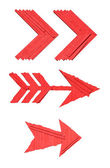 Red arrow signs — Stock Photo